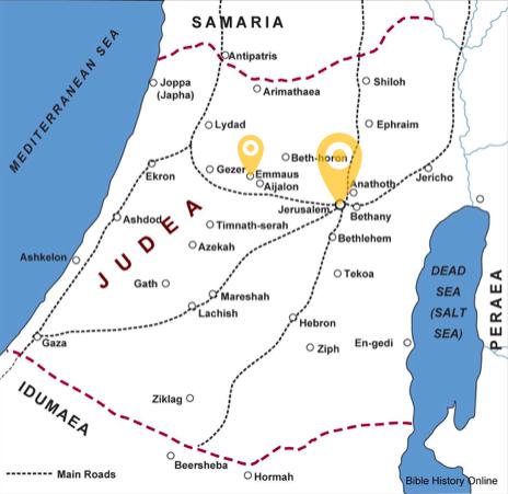 emmaus map